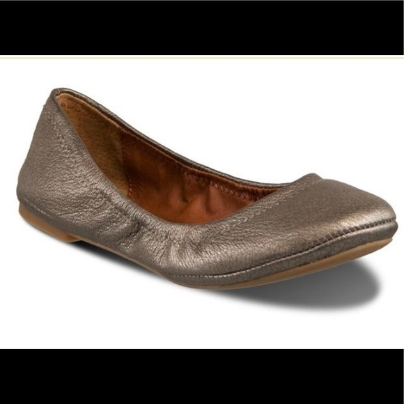 Lucky Brand Emmie pewter ballet flats size 10